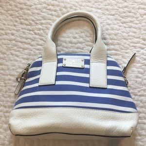 Blue and white Kate Spade bag